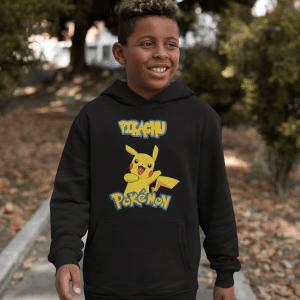 Black Pokemon Hoodies gaming hoodie featuring Next Level Gaming Van